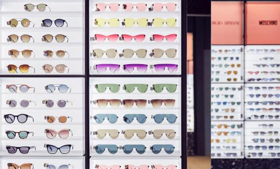 Ett unikt sortiment av solglasögon.