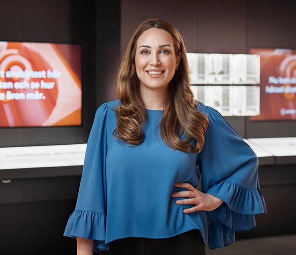 Maria Chatziapostolou - legitimerad audionom och Synsams hörselexpert.