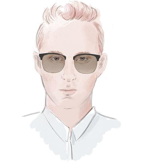 Solglasögon för ovalt ansikte