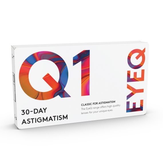 EyeQ Classic For Astigmatism Q1 6 stk/pk