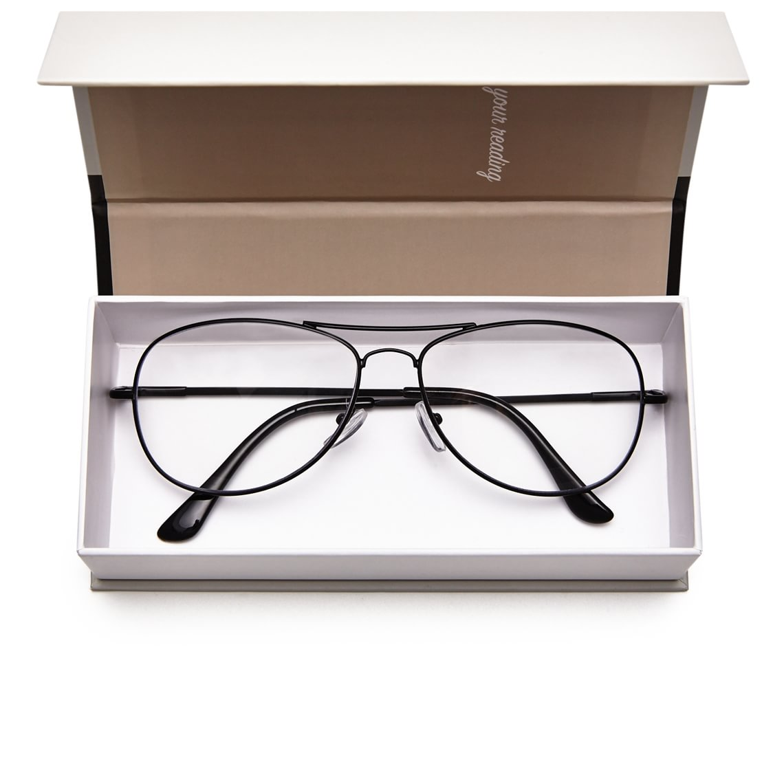 Readers Aviator Metal Black
